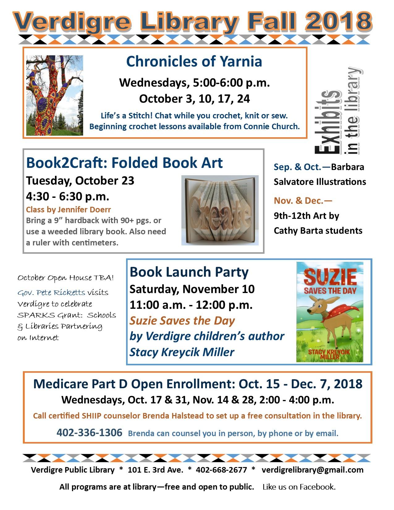 Oct-Nov 2018 programs