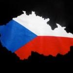 Czech Flag T-Shirt (black) - front