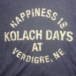 Happiness Is Kolach Days T-Shirt (blue) - front