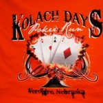 Poker Run T-Shirt  (orange)